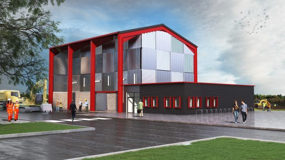 An artist impression of a new Civil Engineering Training Facility