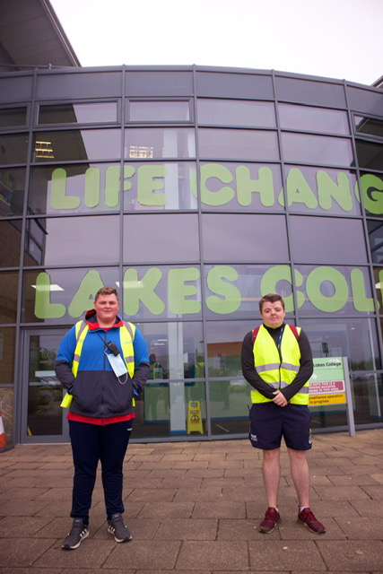 Students taking part in the sponsored walk